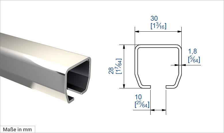Laufschiene 9010 C-Profil